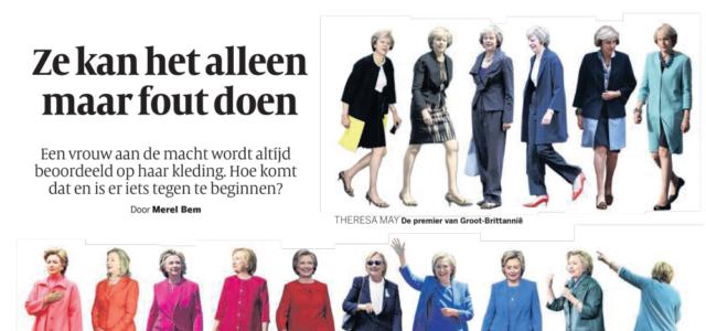 In de pers: Volkskrant – Garderobe van topvrouwen is een mijnenveld